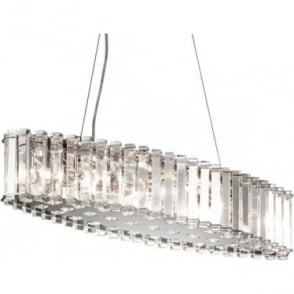 Crystal Skye Island LED Bathroom Chandelier IP44 Polished Chrome