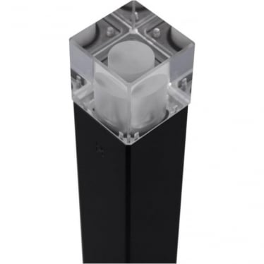 Cube Bollard Quartz (flange) - Powder coat colours - Low Voltage