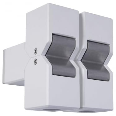 Cube Pillar Light Dual Mount Adjustable - Powder coat colours - Low Voltage