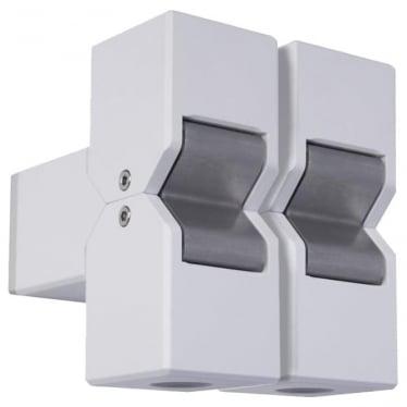 Cube Pillar Light Dual Mount Adjustable - Powder coat colours - Low Voltage