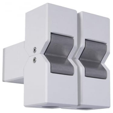 Cube Pillar Light Dual Mount Fixed - Powder coat colours - Low Voltage