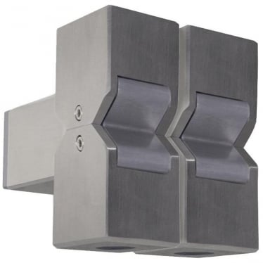 Cube Pillar Light Dual Mount Fixed - stainless steel - Low Voltage