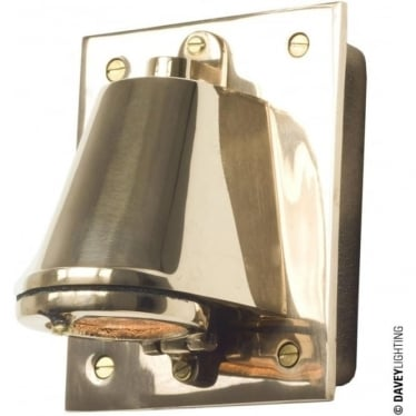 0750 Mast Light with cast transformer box, Polished Bronze