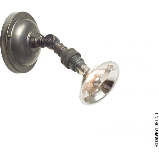 Davey Lighting 0758 Adjustable Spot Light, Integral transformer, Weathered Brass