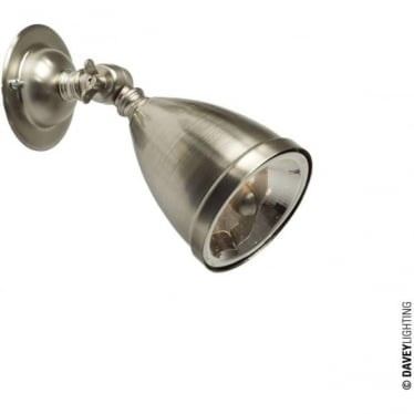 0761 Adjustable Low Voltage Spotlight with Shade & Lamp, Nickel Plated