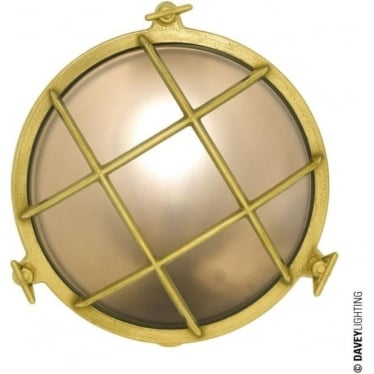 7027 Brass Bulkhead with internal fixing (Diameter 215mm) Polished Brass