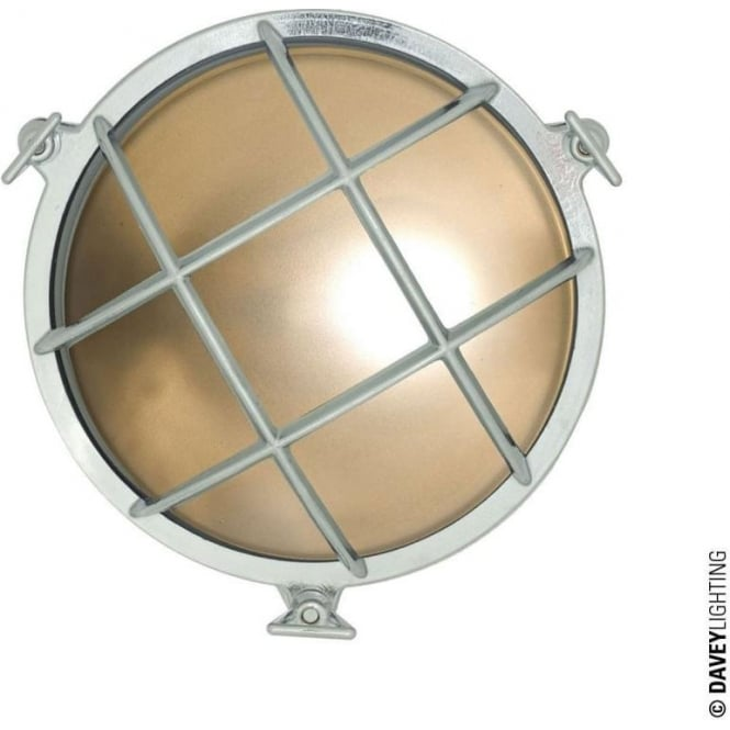 Davey Lighting 7028 Brass Bulkhead with internal fixing (Diameter 190mm) Chrome plated
