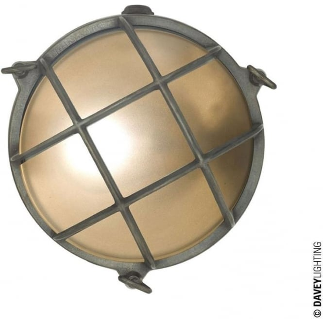 Davey Lighting 7028 Brass Bulkhead with internal fixing (Diameter 190mm) Weathered Brass