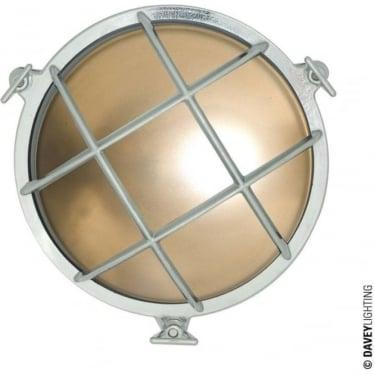 7030 Brass bulkhead with external fixing feet (Diameter 185mm)  Chrome Plated