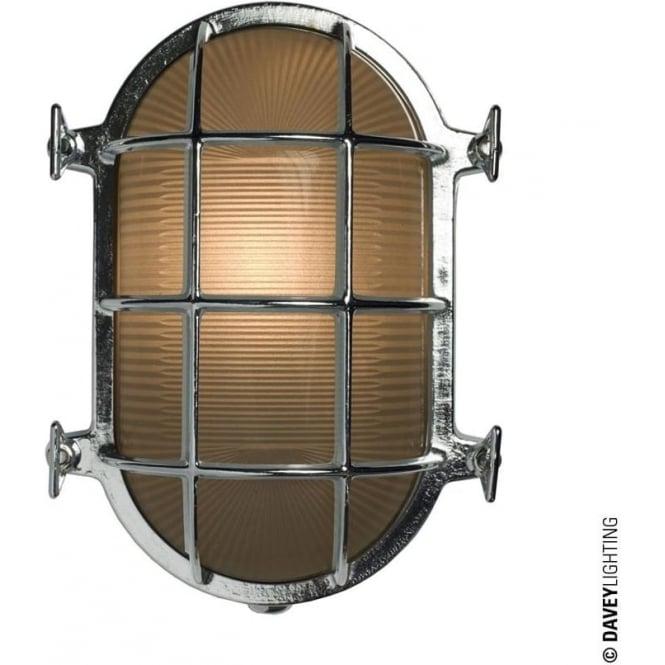 Davey Lighting 7035 Oval brass bulkhead with internal fixing points, Chrome Plated, Medium