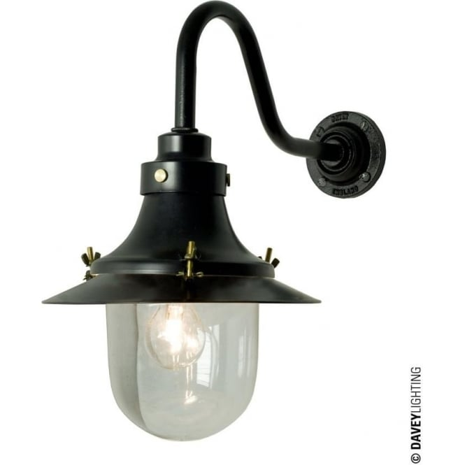 Davey Lighting 7125 Ship's small decklight, Black, Clear Glass