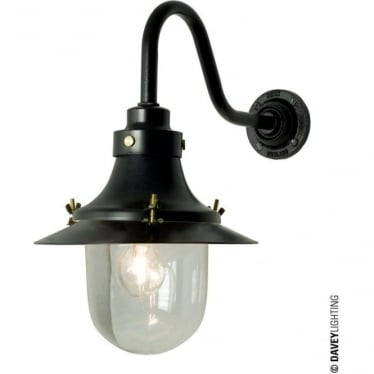 7125 Ship's small decklight, Black, Clear Glass
