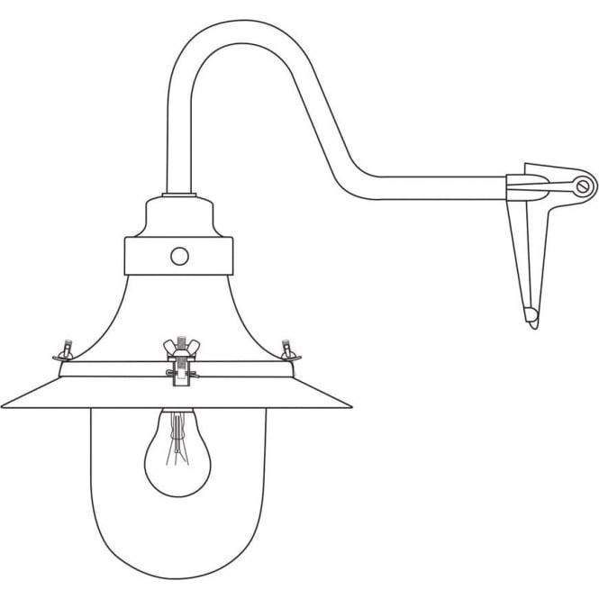 Davey Lighting 7125 Ship's small decklight, Black, Opal Glass