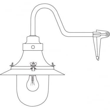 7125 Ship's small decklight, Black, Opal Glass