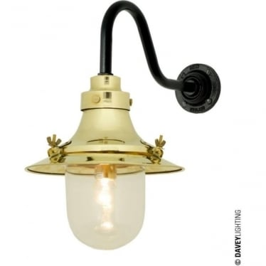 7125 Ship's small decklight, Polished Brass, Clear Glass