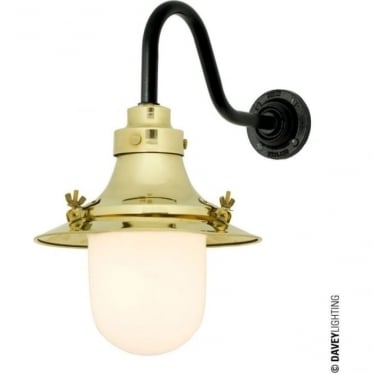 7125 Ship's small decklight, Polished Brass, Opal Glass