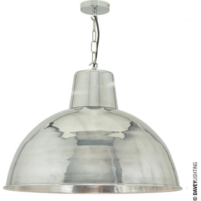 Davey Lighting 7163 Spun Reflector, Large, Polished Aluminium