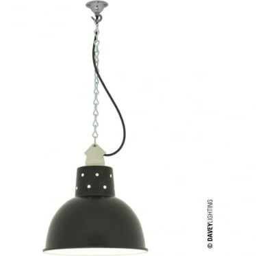 7165 Spun Reflector, Small, Ceramic Suspension, Painted Black