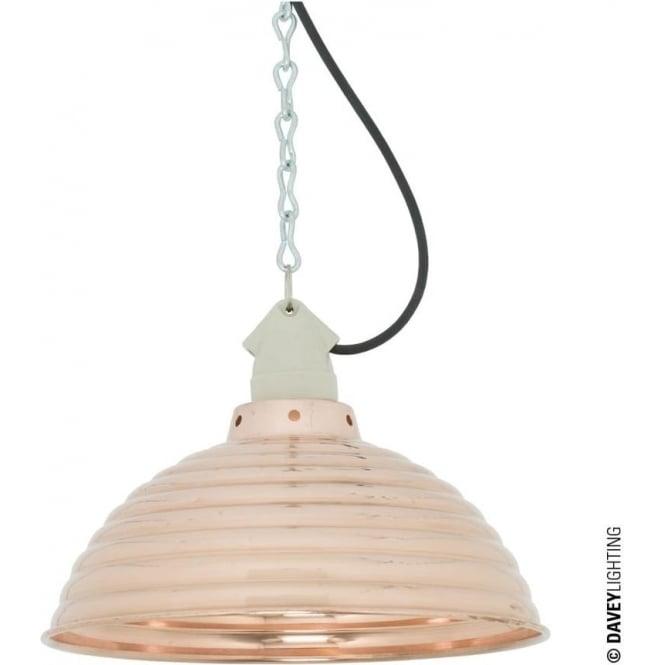 Davey Lighting 7170 Spun Ripple, Suspension Lampholder Polished Copper