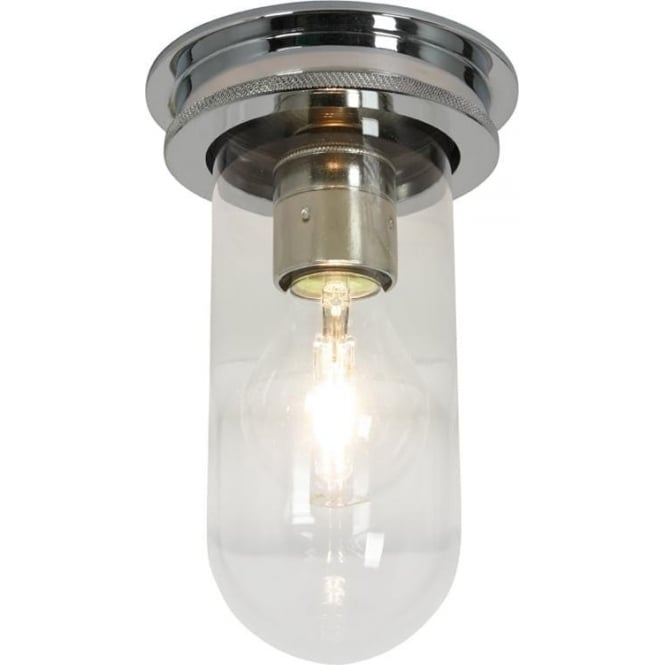 Davey Lighting 7202 Ship's campanionway, chrome plated, Clear glass