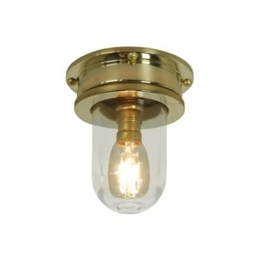 7202 Ship's campanionway, Miniature, polished brass, clear glass