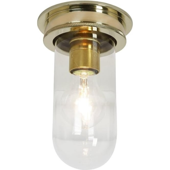 Davey Lighting 7202 Ship's campanionway, Polished Brass, Clear glass