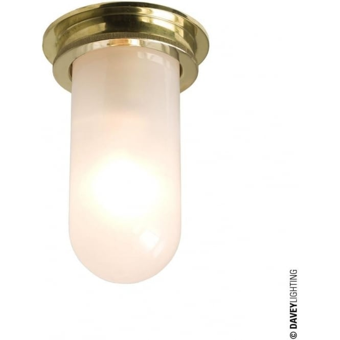 Davey Lighting 7202 Ship's campanionway, Polished Brass, frosted glass