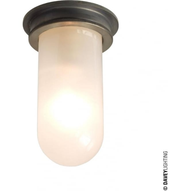 Davey Lighting 7202 Ship's campanionway, Weathered Brass, frosted glass