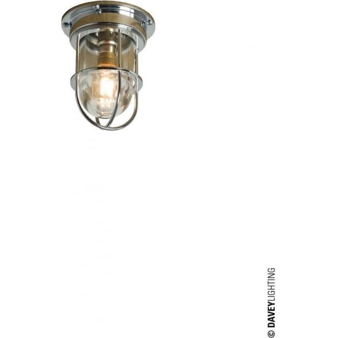 Davey Lighting 7203 ship's campanionway light & Guard, Miniature, Chrome Plated, Clear glass