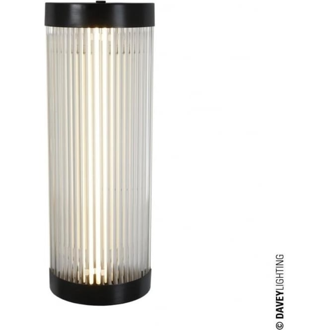 Davey Lighting 7210 Pillar Fluorescent Wall Light, Weathered Brass