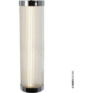 7210 Pillar LED Wall Light, Chrome Plated, Large