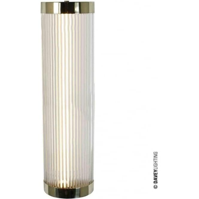 Davey Lighting 7210 Pillar LED Wall Light, Polished Brass, Large