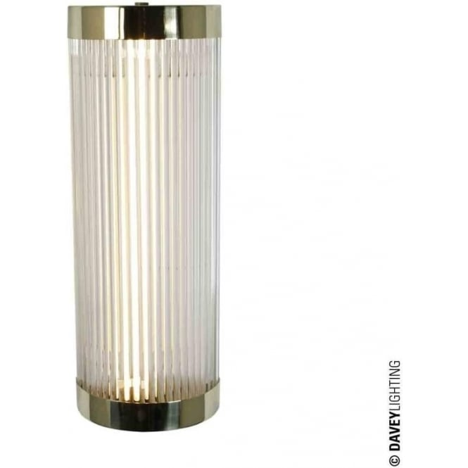 Davey Lighting 7210 Pillar LED Wall Light, Polished Brass, Small