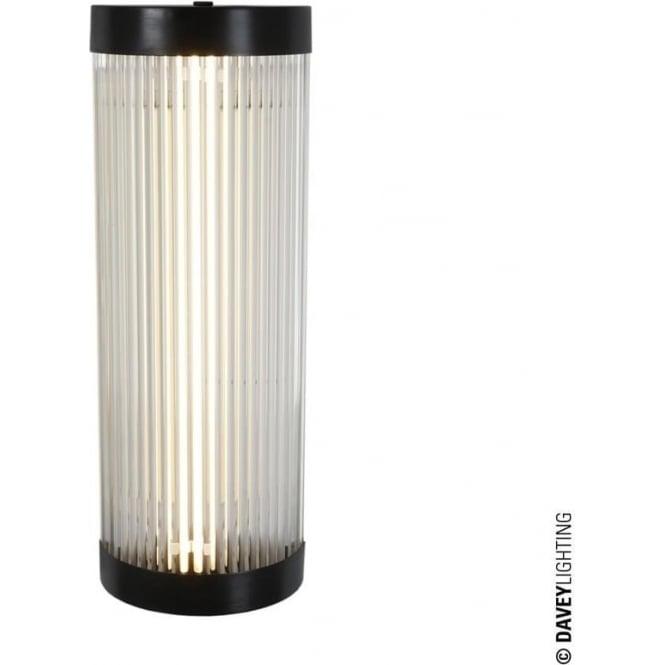 Davey Lighting 7210 Pillar LED Wall Light, Weathered Brass, Small