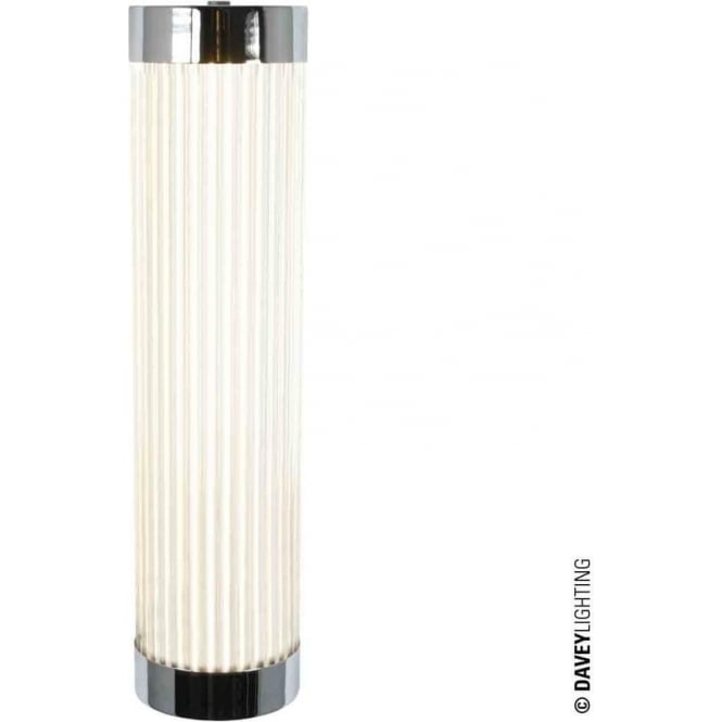 Davey Lighting 7211 Pillar LED Wall Light, Narrow, Chrome Plated, 40cm