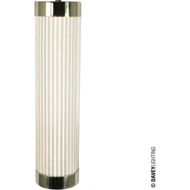Davey Lighting 7211 Pillar LED Wall Light, Narrow, Polished Brass, 40cm