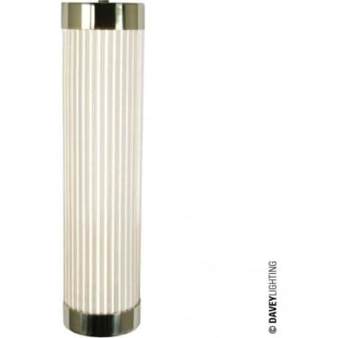 7211 Pillar LED Wall Light, Narrow, Polished Brass, 40cm