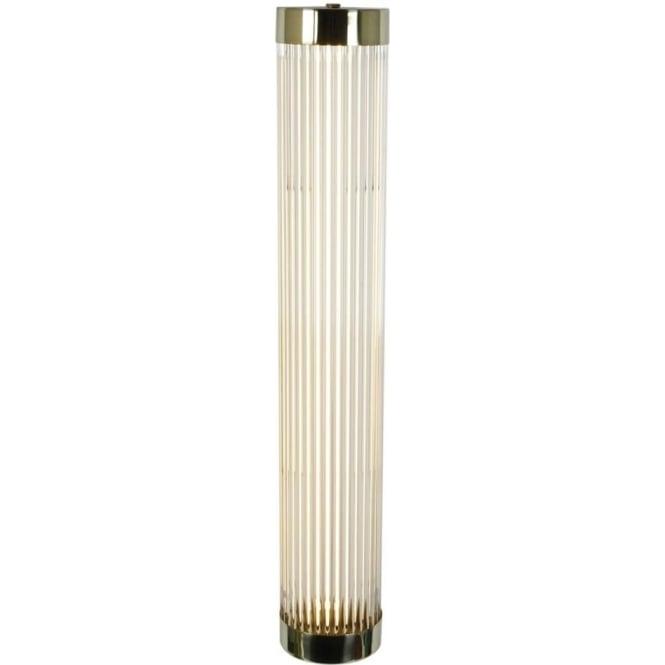 Davey Lighting 7211 Pillar LED Wall Light, Narrow, Polished Brass, 60cm