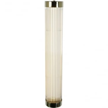 7211 Pillar LED Wall Light, Narrow, Polished Brass, 60cm
