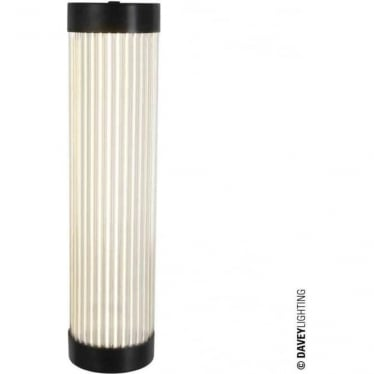 7211 Pillar LED Wall Light, Narrow, Weathered Brass, 40cm