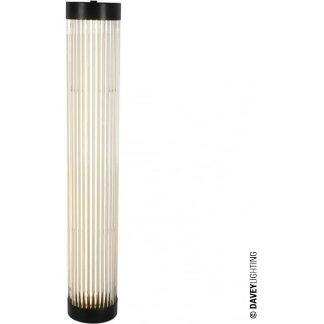 Davey Lighting 7211 Pillar LED Wall Light, Narrow, Weathered Brass, 60cm