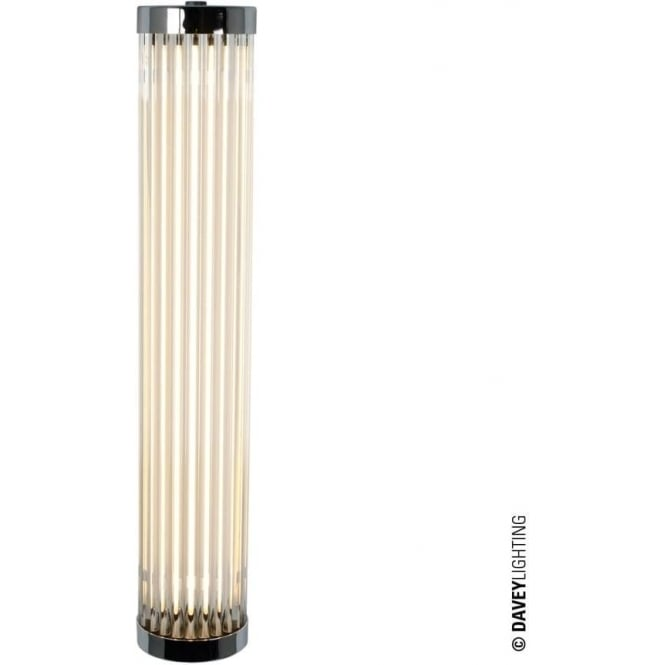 Davey Lighting 7212 Pillar LED Wall Light, Chrome Plated, 40cm