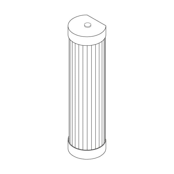 Davey Lighting 7212 Pillar LED Wall Light, Polished Brass, 27cm