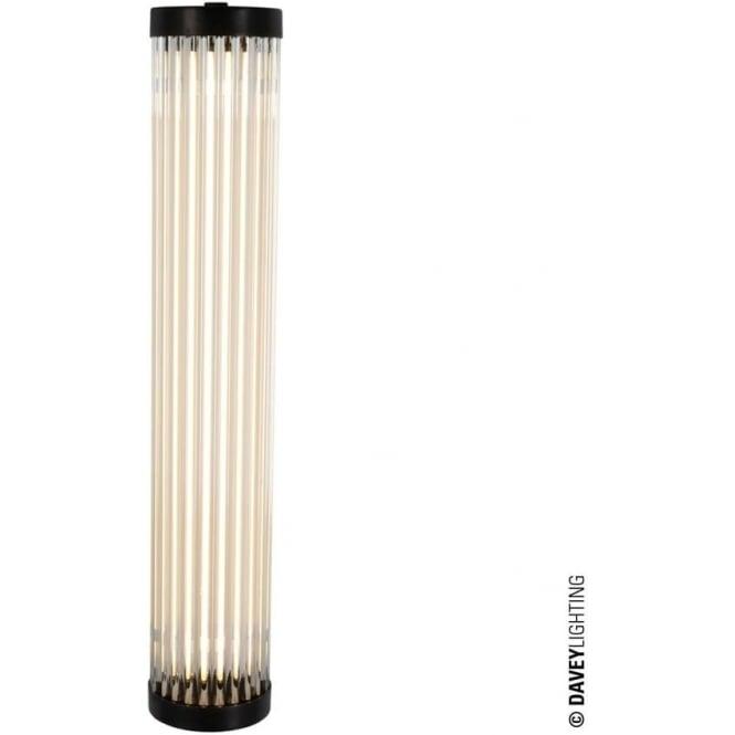 Davey Lighting 7212 Pillar LED Wall Light, Weathered Brass, 40cm