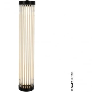 7212 Pillar LED Wall Light, Weathered Brass, 40cm