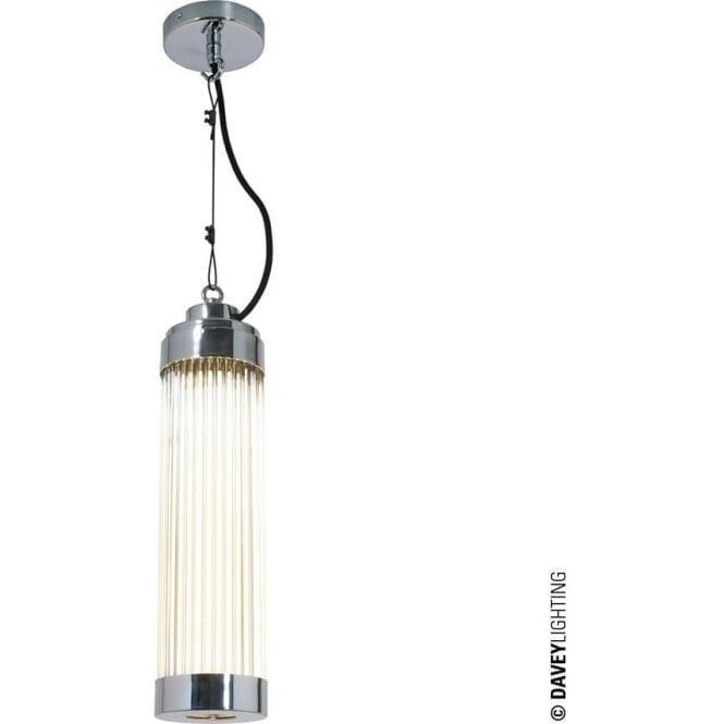 Davey Lighting 7213 Pillar Pendant Light, Chrome Plated