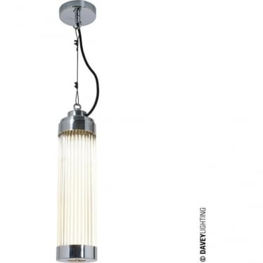7213 Pillar Pendant Light, Chrome Plated