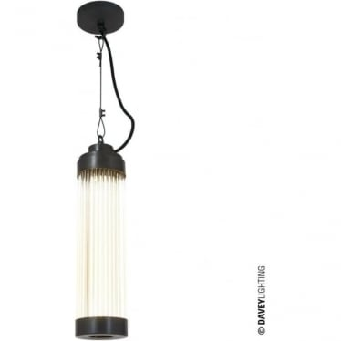 7213 Pillar Pendant Light, Weathered Brass