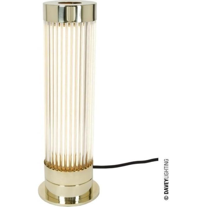 Davey Lighting 7214 Pillar Table Light, Polished Brass