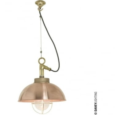 7222 Shipyard Pendant, Copper, Clear